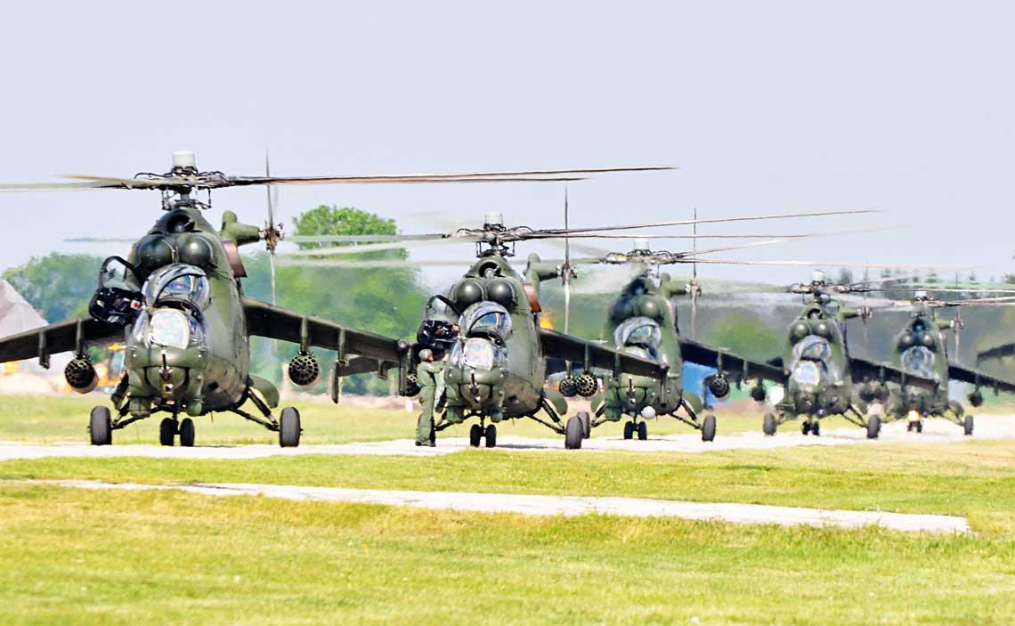 Wedlug oficjalnych danych wpolowie 2018r. Sily Zbrojne RP dysponowaly 28 smiglowcami bojowymi Mi-24D iW.