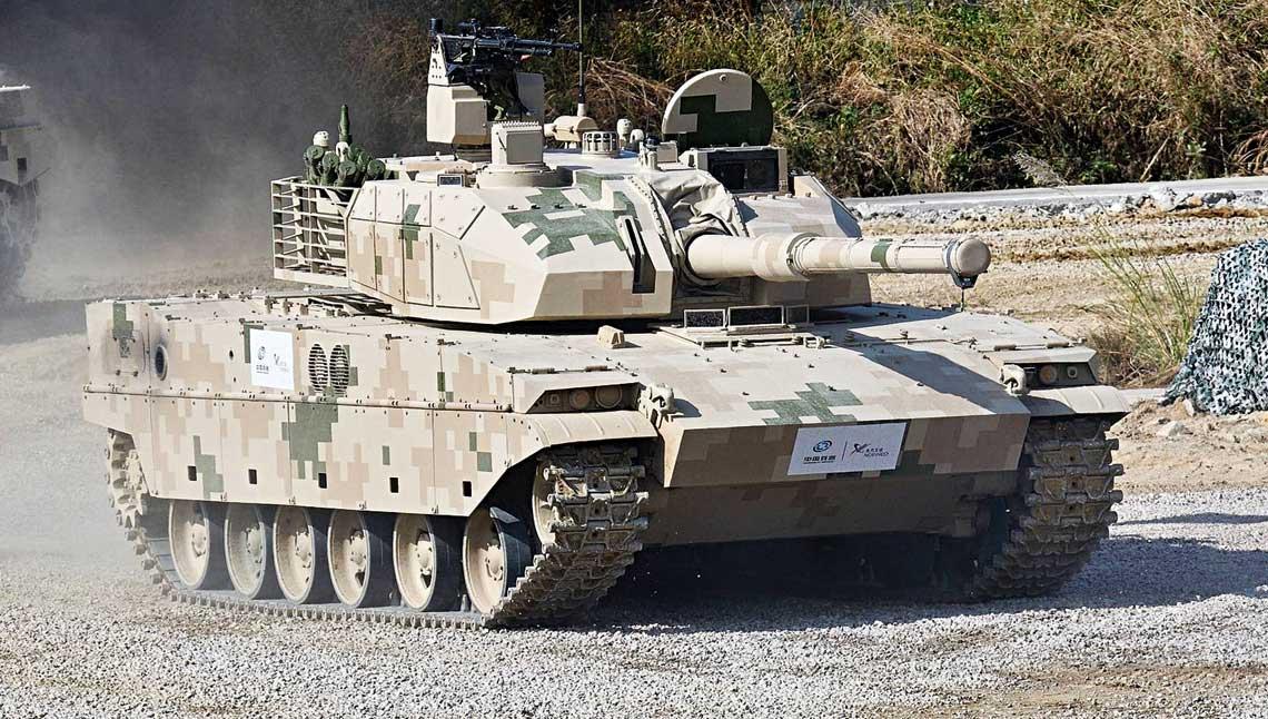 Lekki czolg VT-5, przyjety na uzbrojenie ChALW jako Typ 15.