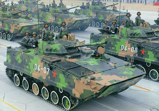 Chiński bwp ZBD-97 jest zdumiewająco podobny do wczesnej konfiguracji Kurgańca. Nie ma ekranów burtowych, a system samoobrony jest ograniczony do odpalanych ręcznie wyrzutni granatów dymnych.
