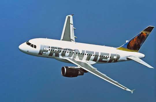 A318 to najmniejszy model samolotu pasażerskiego produkowanego przez Airbusa. Na jego bazie powstała wersja dyspozycyjna A318 Elite (ACJ318) dla 14–18 pasażerów.  Na zdjęciu: A318 w barwach linii lotniczych Frontier Airlines.