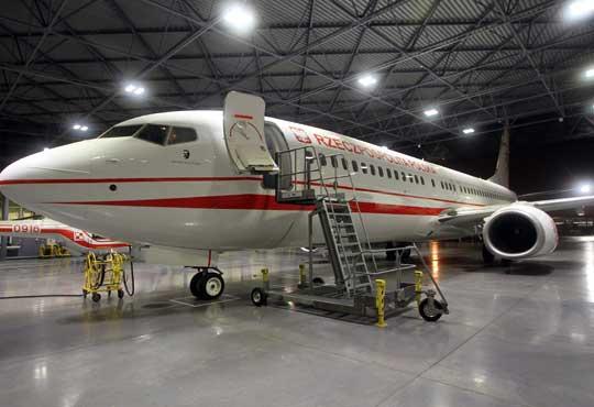 Podest serwisowy – inne urządzenie pochodzące  z WCBKT S.A., umożliwiające naziemną obsługę m.in.samolotu Boeing 737.
