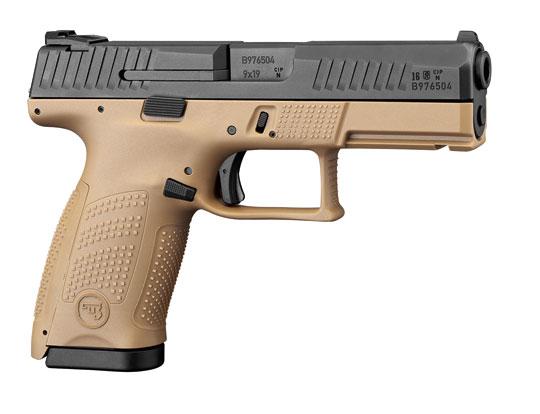 CZ P-10 oferowany jest obecnie w wielkości compact i kalibrach 9 mm Luger (9×19 mm) oraz .40 S&W. Broń konstrukcyjnie jest przystosowana do użycia przez strzelców prawo- i leworęcznych. Poza pistoletami z czarnym szkieletem, oferowana jest także odmiana w kolorze flat dark earth.