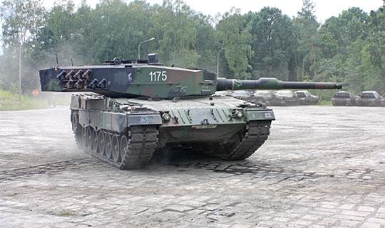 Jeden z pierwszych czołgów Leopard 2A4, które przeszły przegląd F6 i proces przywrócenia pełnej sprawności w ZM Bumar-Łabędy.