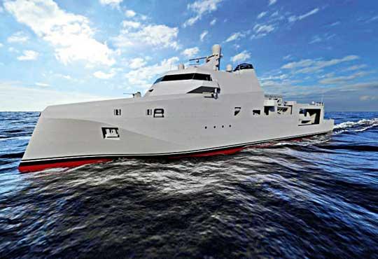 Propozycja bazowca ze stoczni Chantiers de l'Atlantique (do niedawna STX France), wchodzącej wskład faworyzowanego konsorcjum Sea Naval Solutions.
