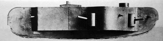 Model K-Wagena w widoku z prawej strony z założoną boczną gondolą.