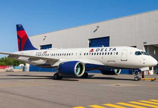 Pierwszy A220-100 linii Delta Air Lines. Samoloty A220-100/300, czyli dawne Bombardier CS100/300, znalazły się w ofercie Airbusa w lipcu 2018 r.  w wyniku porozumienia CSALP (CSeries Aircraft Limited Partnership).