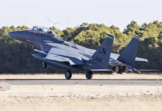 Siły Powietrzne Stanów Zjednoczonych wTLP 2019-1 reprezentowało 14 samolotów myśliwsko-bombowych Boeing F-15E Strike Eagle z bazy lotniczej Lakenheath w Wielkiej Brytanii.