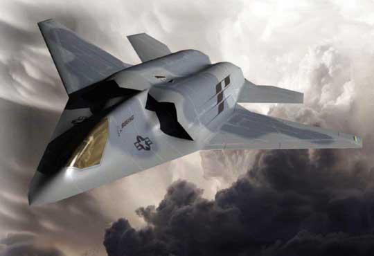 Wczesna wizja myśliwca nowej generacji F-X/NGAD firmy Boeing.