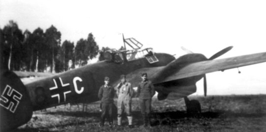 Niszczyciel Messerschmitt Bf 110C M8+CH z 1. Staffel/ZG 76.