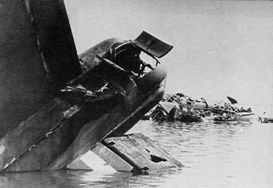 Szczątki samolotu bombowego dalekiego zasięgu Vickers Wellington zestrzelonego najprawdopodobniej w rejonie wyspy Borkum.