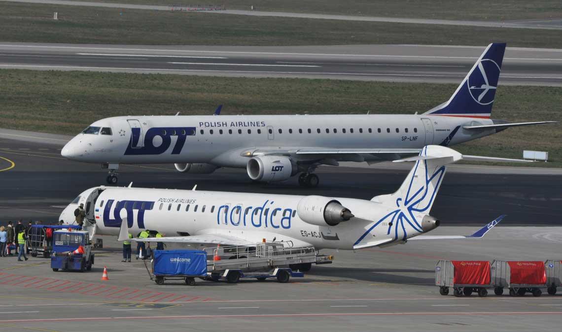 W liniach lotniczych jest użytkowanych 9 tys. samolotów komunikacji regionalnej. Jednym z nich są Polskie Linie Lotnicze LOT, które w swojej flocie posiadają odrzutowe Embraery E-Jets i Bombardiery CRJ 900 oraz turbośmigłowe Dash Q400.
