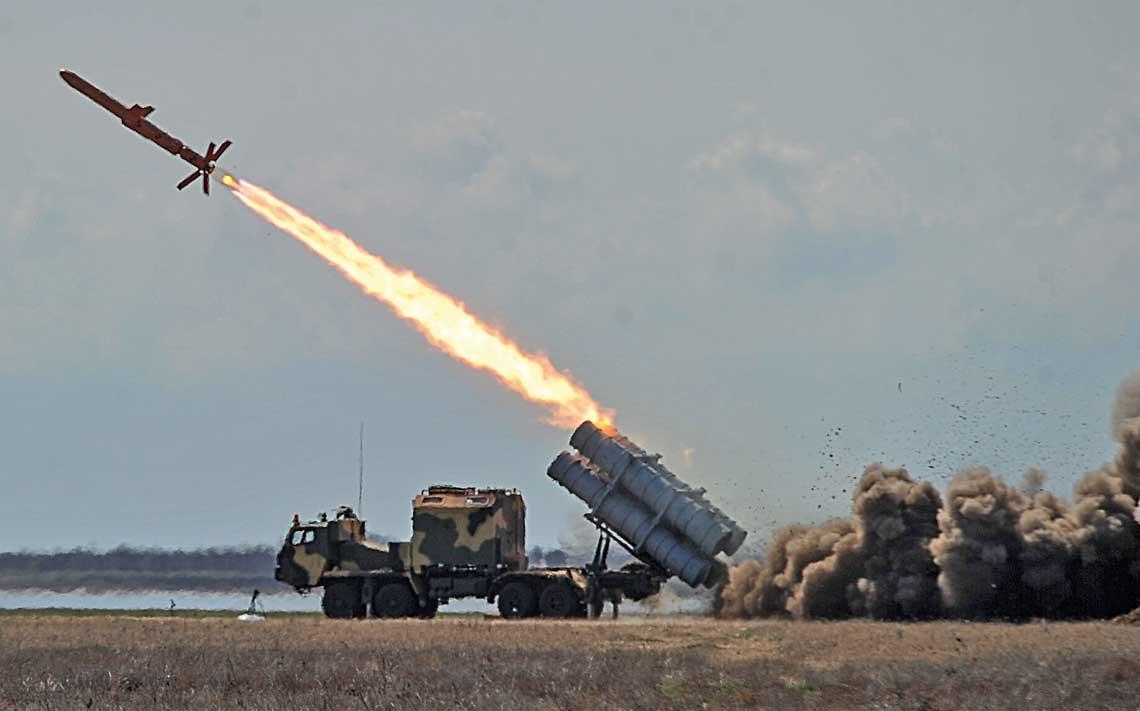 Kwietniowy test pocisku R-360A systemu RK-360MC Neptun.