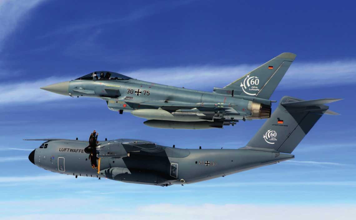 Pomimo znacznych redukcji Siły Powietrzne Niemiec pozostają jednymi znajliczniejszych inajlepiej wyposażonych sił powietrznych w Europie.