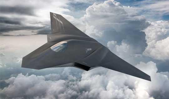 Wizja z 2016 r. samolotu myśliwskiego nowej generacji F-X/NGAD firmy Boeing.