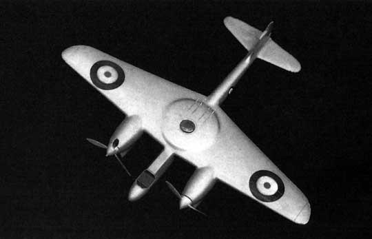 Zwycięską konstrukcją w konkursie na dwumiejscowy, dwusilnikowy, dzienno-nocny myśliwiec uzbrojony w cztery działka 20 mm w obrotowej wieżyczce został ostatecznie projekt Boulton Paul P.92.