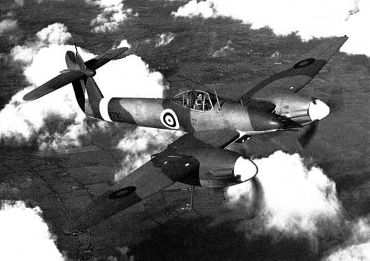 Projekt samolotu myśliwskiego uzbrojonego w cztery działka 20 mm Bristol Beaufighter okazał się najlepszym rozwiązaniem dla RAF, wobec problemów z myśliwcem Westland Whirlwind.
