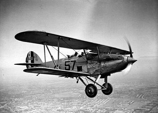 Hawker Hart z 503. dyonu RAAF w roli samolotu szkolnego; Wyspy Brytyjskie, połowa lat 30. XX wieku.
