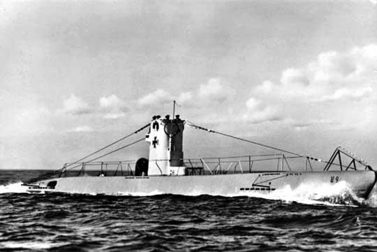 Niemiecki U-Boot typu VIIA U-9 z 30. Flotylli Okrętów Podwodnych wykrytej i zniszczonej 20 sierpnia 1944 r. w Konstancy w Rumunii dzięki informacjom przekazanym przez wywiad NSZ.
