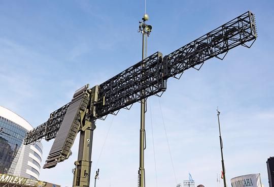 Zbliżenie na kombinowany zespół antenowy stacji Wostok-3D.