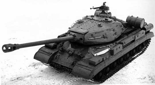 Czołg ciężki IS-4 widziany z góry.