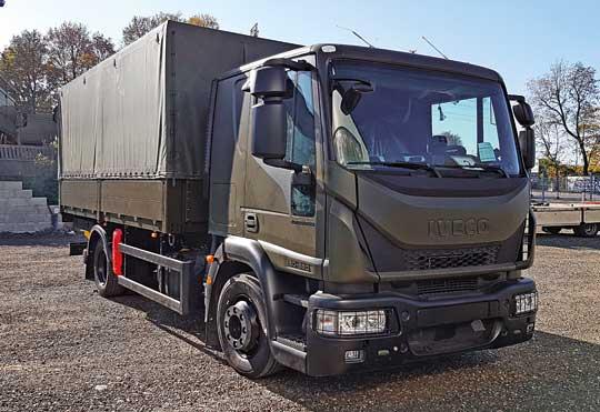 Iveco Eurocargo ML120E28/P E 6C to szosowa odmiana średniotonażowa – klasyczny drogowy środek transportu, klasyfikowany przez wojsko jako ogólnego przeznaczenia średniej ładowności.