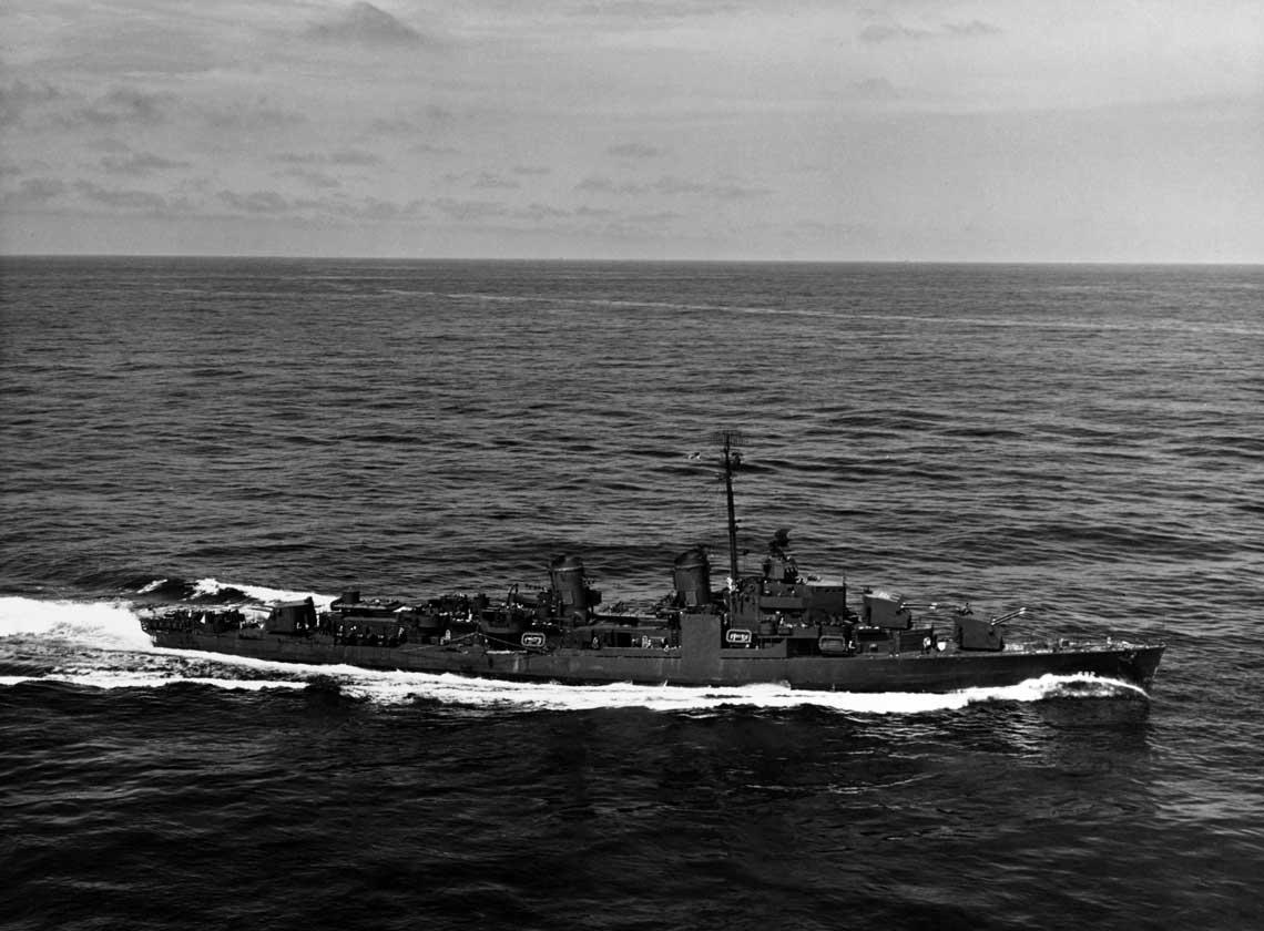 USS Allen M.Sumner, flagowiec 120.Dywizjonu Niszczycieli kmdr. Zahma.