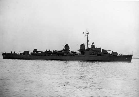USS Moale drugi z nowoczesnych niszczycieli US Navy w starciu w Zatoce Ormoc.