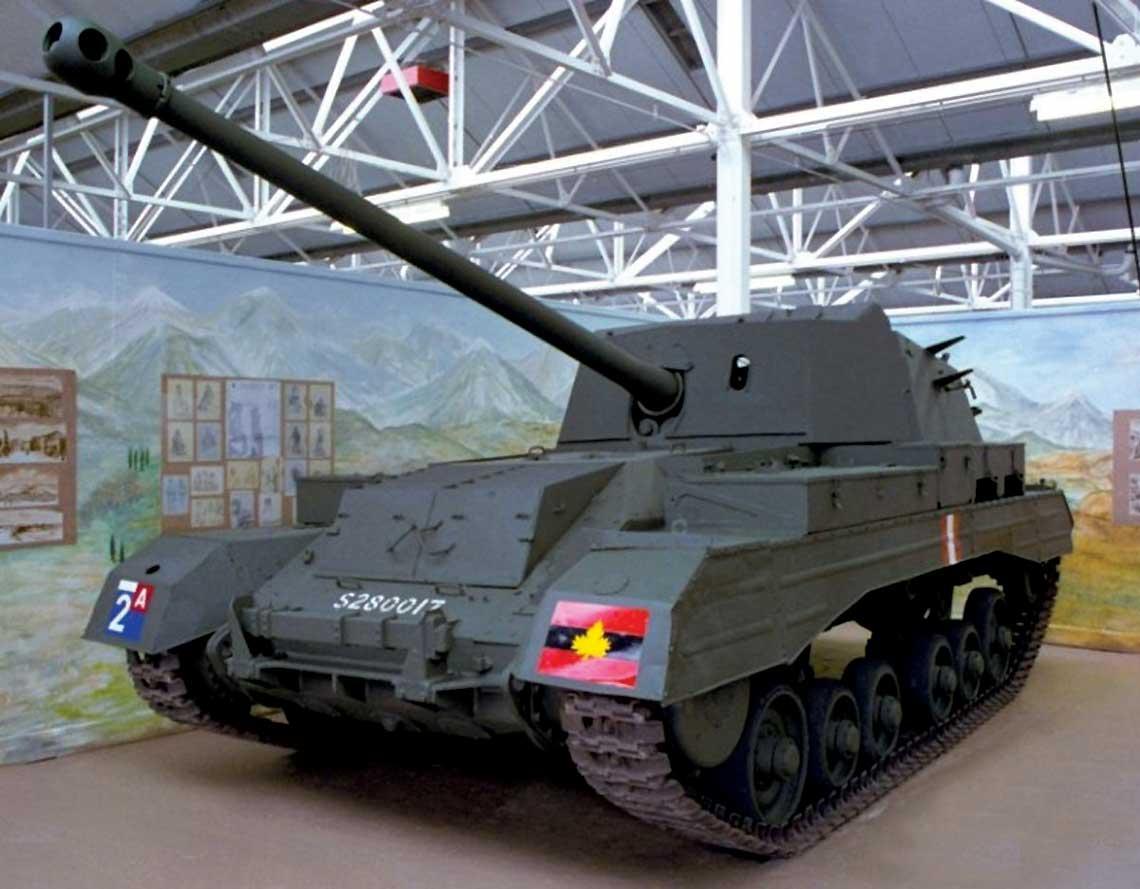 Egzemplarz muzealny działa samobieżnego Archer, jedynego brytyjskiego gąsienicowego samobieżnego działa przeciwpancernego oryginalnej konstrukcji, które zostało użyte bojowo.
