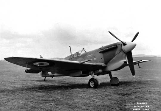 Pierwszy Seafire – Mk IB (BL676) – sfotografowany w kwietniu 1942 r.