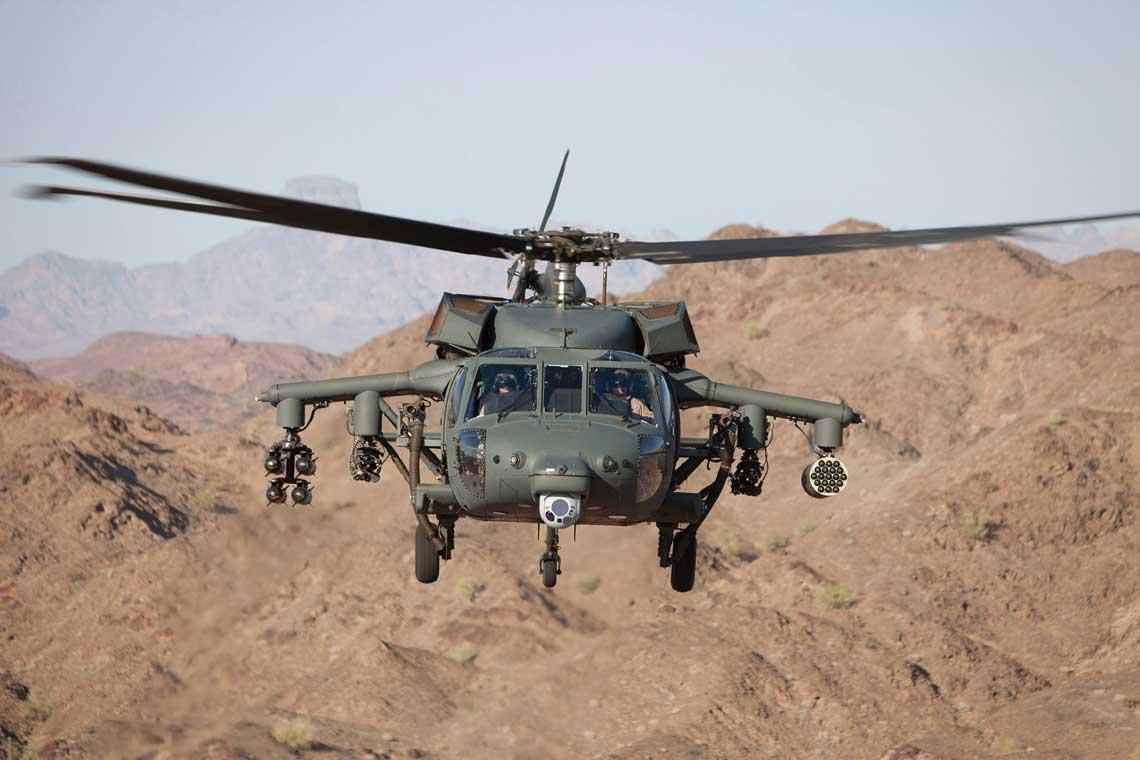 Śmigłowiec wielozadaniowy Black Hawk jest klasycznym śmigłowcem wsparcia pola walki, dysponującym zarówno zdolnością do wykonywania misji uderzeniowych, w tym z użyciem uzbrojenia kierowanego, jak i możliwością prowadzenia misji transportowych, na przykład przewozu drużyny piechoty.