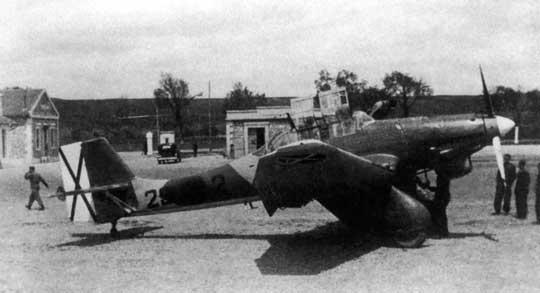 Ju 87 A-1, 29●2 na lotnisku Leon (wojna domowa w Hiszpanii).