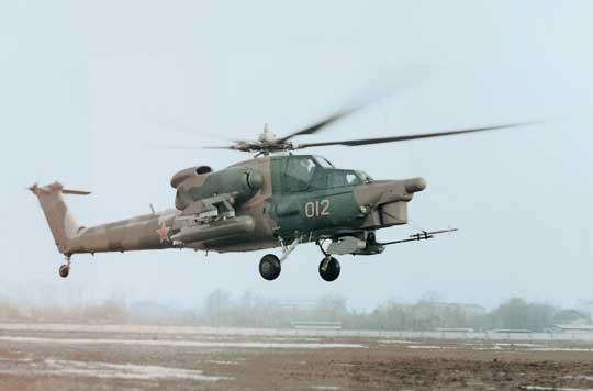 """Pierwszy prototyp śmigłowca bojowego Mi-28 """"012"""" wystartował 10 listopada 1982 r. z załogą w składzie Gurgen Karapetjan i Wiktor Cygankow."""