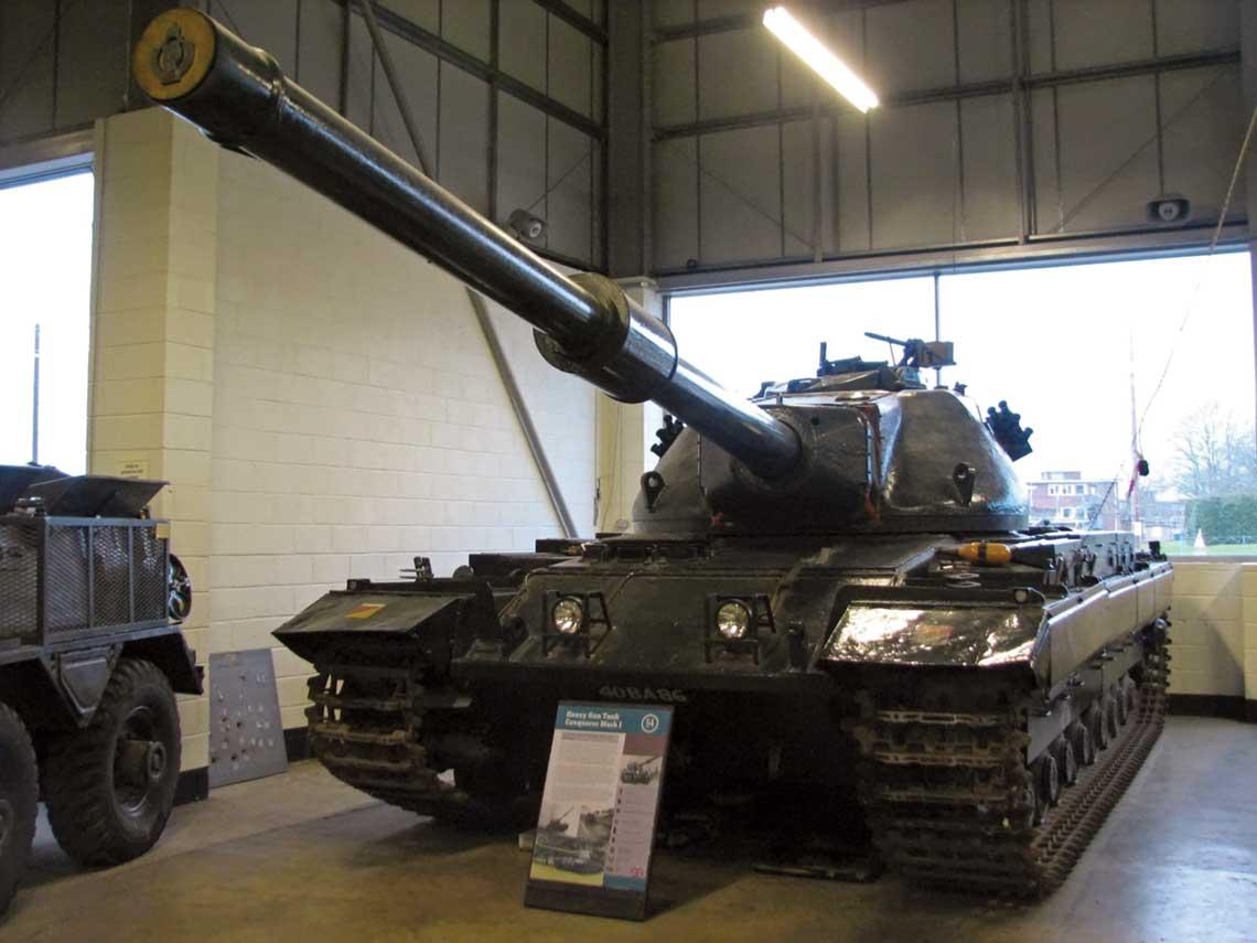 Zachowany do dziś czołg ciężki ConquerorI zkolekcji Muzeum Czołgów w Bovington wWielkiej Brytanii.