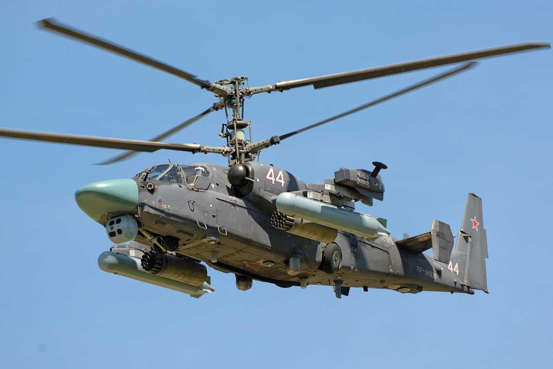 Ka-52 to jeden ztrzech nowoczesnych rosyjskich śmigłowców bojowych. Siły Powietrzno-Kosmiczne Federacji Rosyjskiej otrzymały już około 125 Ka-52 i dostawy trwają. Ten egzemplarz należy do 15. Brygady Lotnictwa Armijnego wOstrowie.