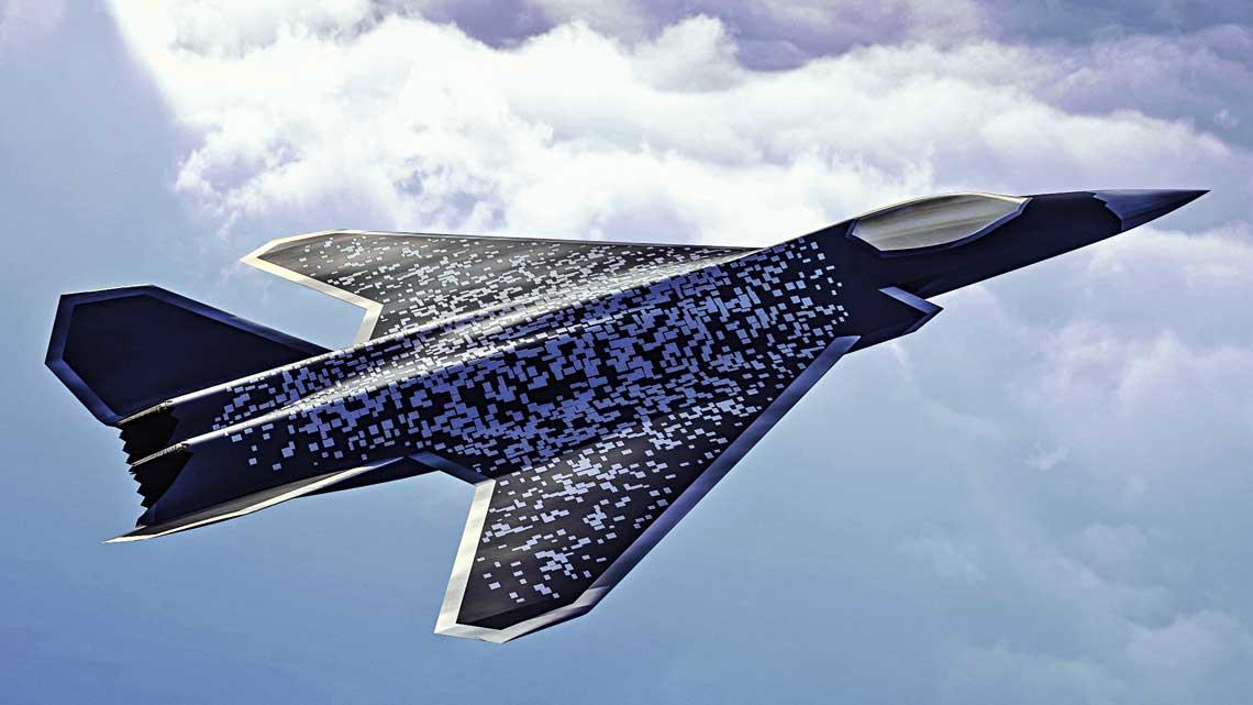 Wizja przyszłego samolotu NGF działającego w systemie SCAF (Système de combat aérien futur).