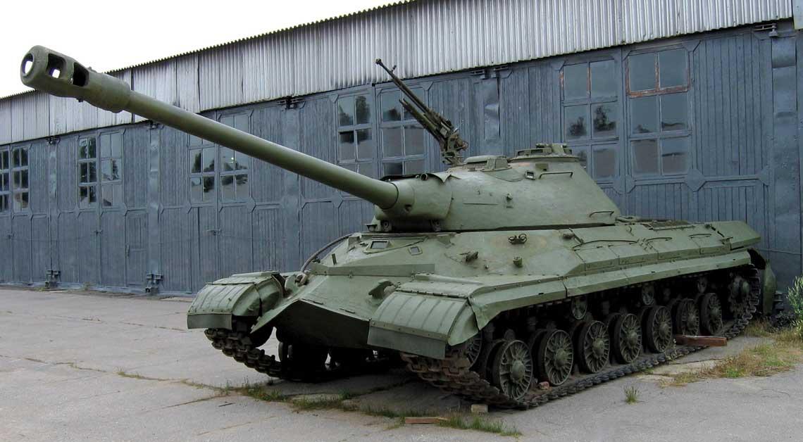 Czołg Obiekt 267 – prototyp czołgu ciężkiego T-10A z armatą D-25T.