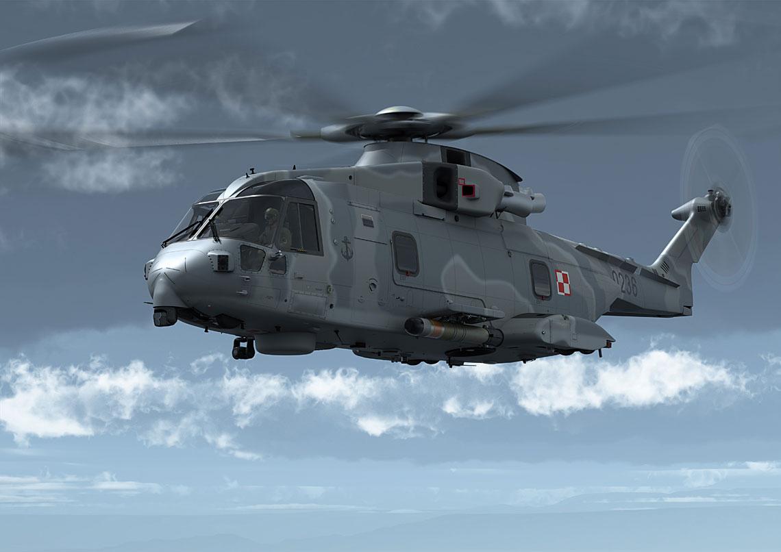 Podpisanie umów offsetowych z ich wykonawcami stało się okazją do zaprezentowania kilku nowych wizji śmigłowca AW101 w konfiguracji dla Marynarki Wojennej, w tym maszyny uzbrojonej w torpedy POP MU90.