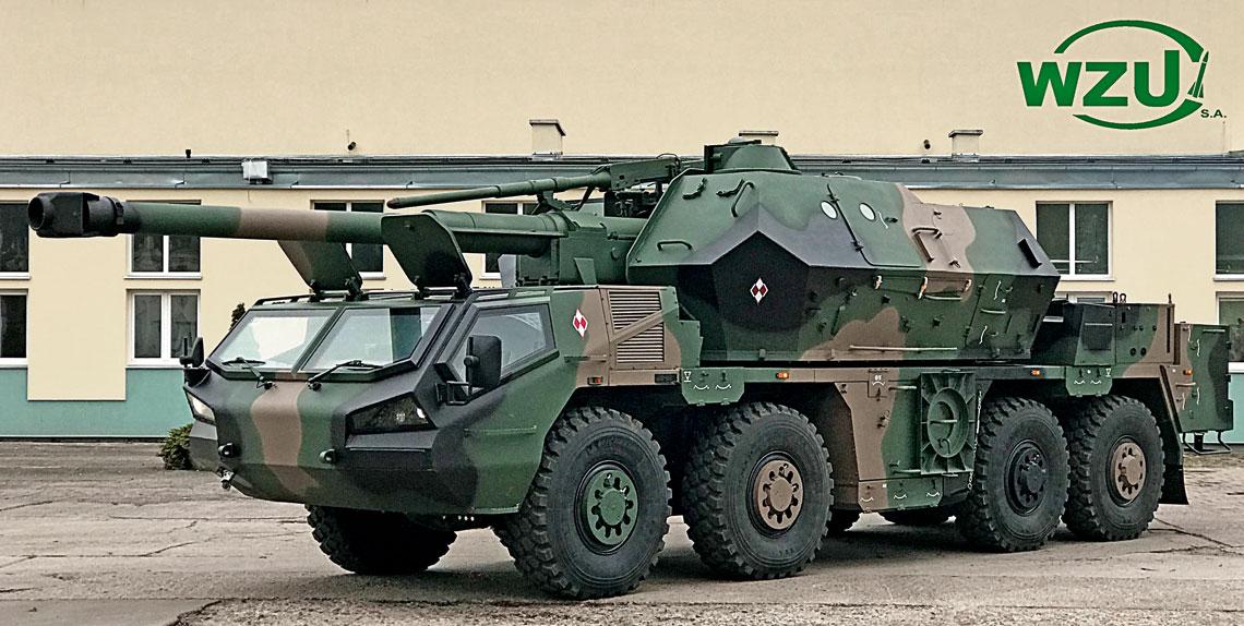 Pierwsza 152 mm haubicoarmata samobieżna wz. 77 DANA zmodyfikowana w Wojskowych Zakładach Uzbrojenia S.A. do standardu DANA-M.