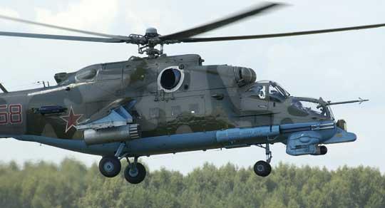 Zmodernizowany śmigłowiec Mi-24PN otrzymał termowizor w charakterystycznej wardze na przodzie kadłuba. Skrzydło zostało skrócone, apodwozie zamocowane na stałe.