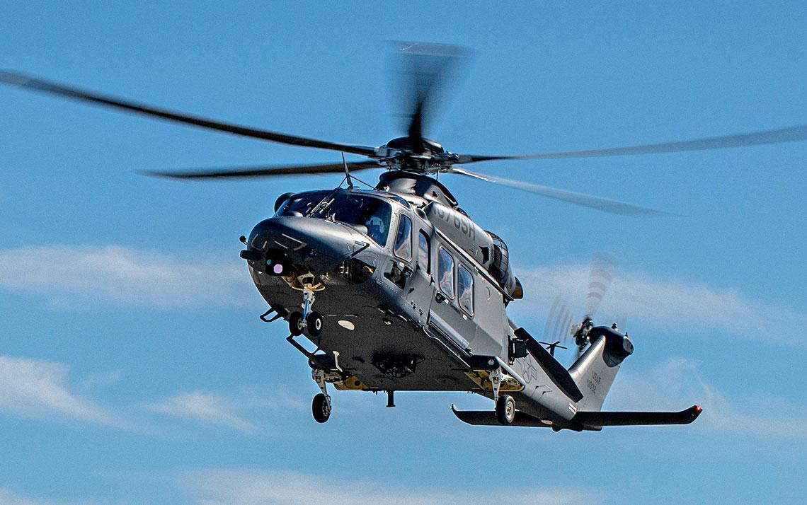 Pierwszy seryjny MH-139A Grey Wolf podchodzi do lądowania na lotnisku Duke Field bazy lotniczej Eglin na Florydzie, gdzie do końca lutego trafią cztery egzemplarze wcelu realizacji programu prób.