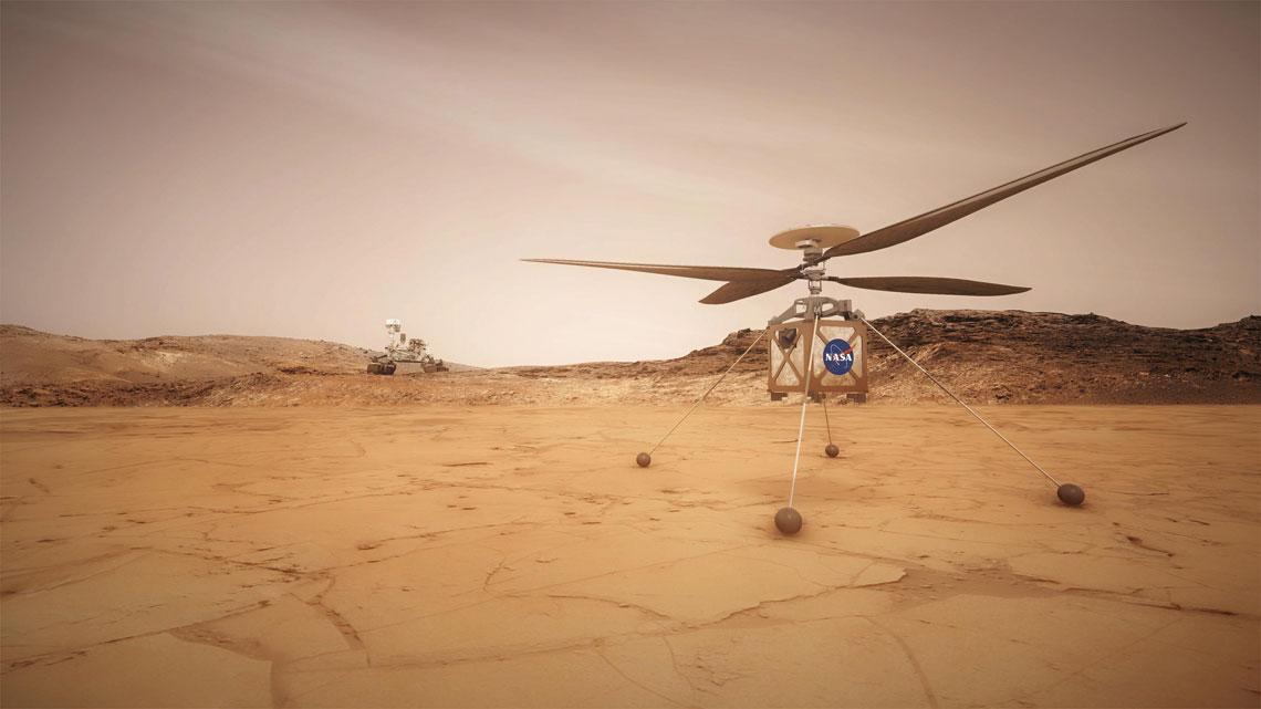 Śmigłowiec misji NASA Mars 2020.