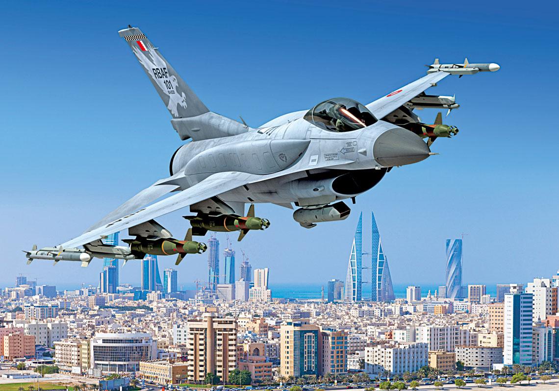 Królestwo Bahrajnu, jako pierwsze państwo na świecie, zamówiło w 2017 r. 16 maszyn F-16 Block 70, równolegle 20 F-16C/D Block40 ma przejść modernizację do standardu F-16V.