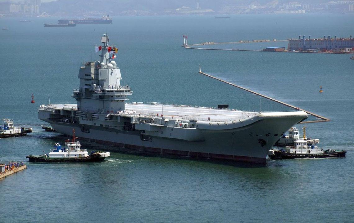 Shandong, najnowszy lotniskowiec Marynarki Wojennej ChALW, pierwszy zbudowany wChRL.