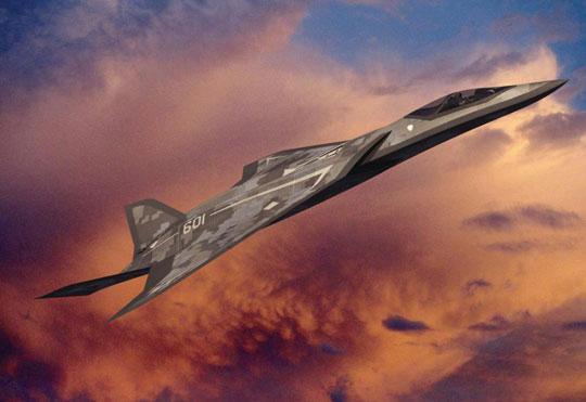 Wczesna wizja samolotu myśliwskiego Lockheed Martin nowej generacji.
