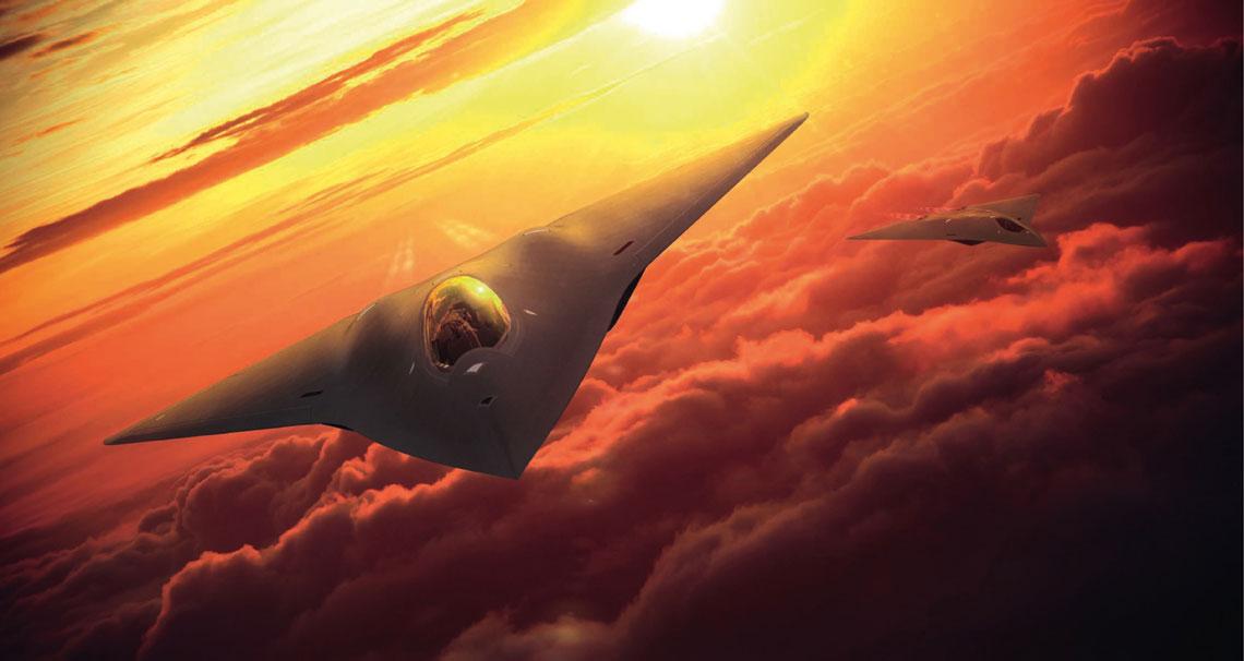 Najnowsza wizja myśliwca szóstej generacji Lockheed Martin.