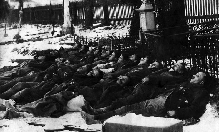 ...i ich dzieło: 26 stycznia 1919 r. zamordowali kilkunastu jeńców z 12. pułku piechoty w Stonawie, na Śląsku Cieszyńskim.