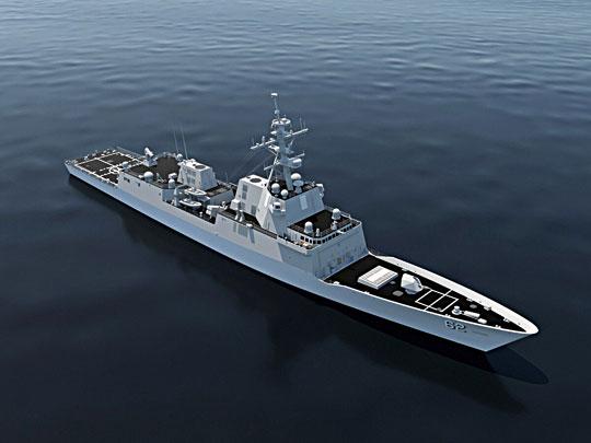 Inną konstrukcją ze Starego Kontynentu wkonkursie na platformę FFG(X) była hiszpańska fregata typu Álvaro de Bazán, prezentowana przez General Dynamics Bath Iron Works. Iwtym przypadku zastosowano podobne adaptacje, co wynikało znarzuconego przez zamawiającego systemu walki.