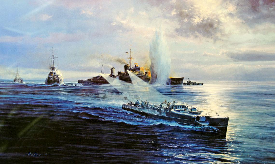 Wieczorem 14 czerwca 1942 r. S56, mimo ognia niszczycieli eskorty konwoju, zaatakował dwiema torpedami krążownik lekki Newcastle, uzyskując jedno trafienie. Ciężko uszkodzony okręt zdołał dotrzeć do Aleksandrii. Wydarzenie uwiecznił na obrazie Robert Taylor.