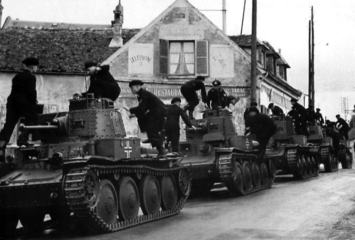 Niemieckie PzKpfw 38(t). Szybkie działania Grupy Pancernej von Kleist oraz jej XIX Korpusu gen. kawalerii Heinza Guderiana wydatnie przyczyniły się do pokonania Francji w 1940 r.