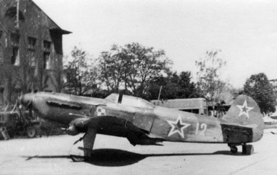 Jak-1 polskiego lotnictwa wojskowego. Ciekawostką jest fakt, że większość samolotów myśliwskich tego typu miało stelaż pod zabudowę aparatu fotograficznego.